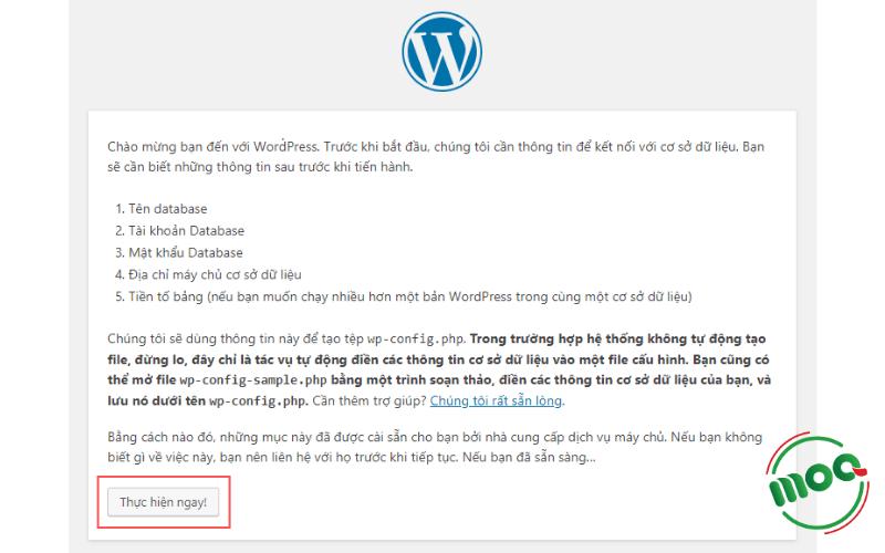 Bắt đầu cài đặt WordPress với Localhost