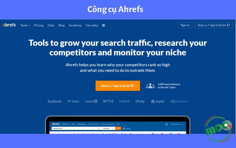 Công cụ kiểm tra traffic website Ahrefs