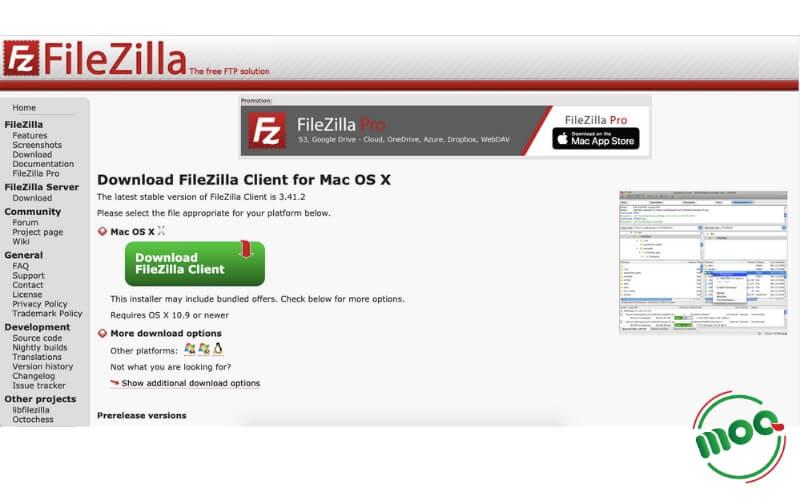 Tải FileZilla