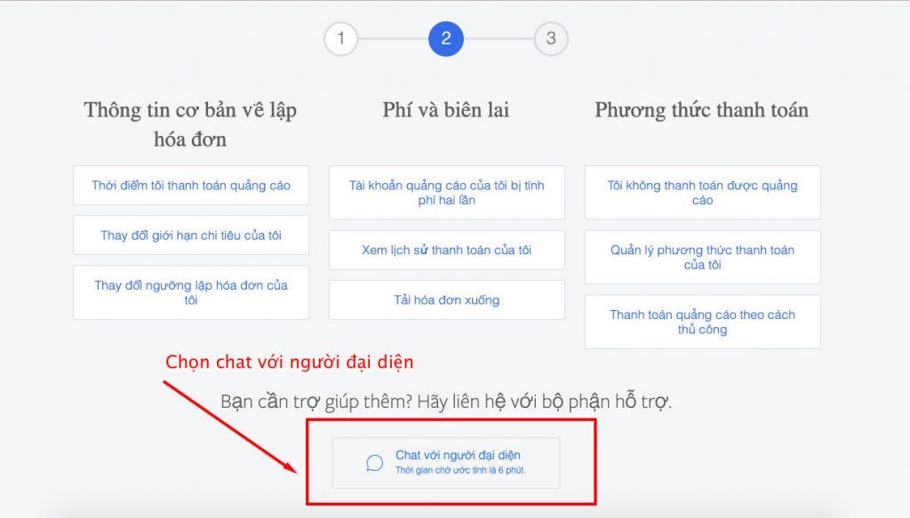 chat voi doi ngu Facebook