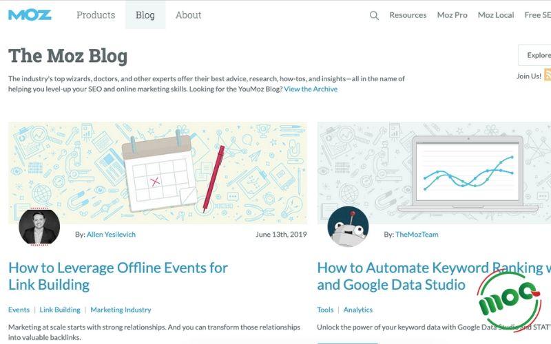 Website Moz về Digital Marketing
