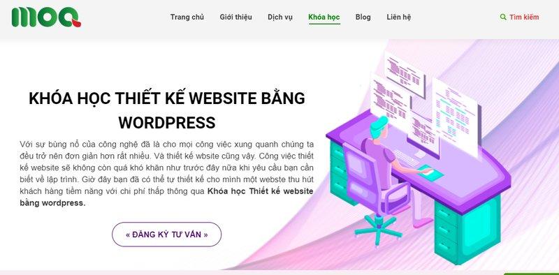 Học thiết kế website ở Moa