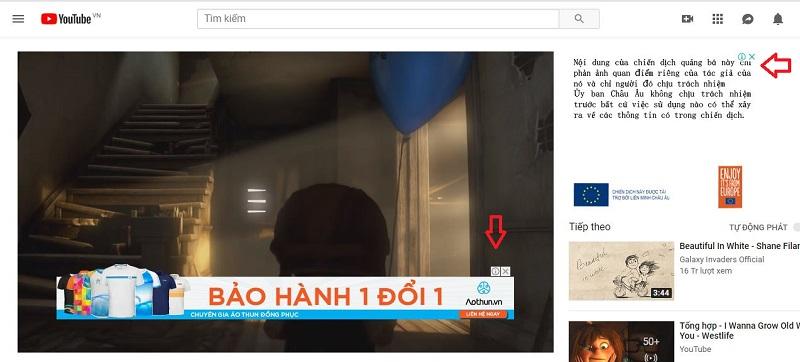 Banner hiển thị trong video