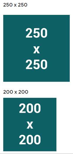 Kích thước quảng cáo phổ biến trên thiết bị di động