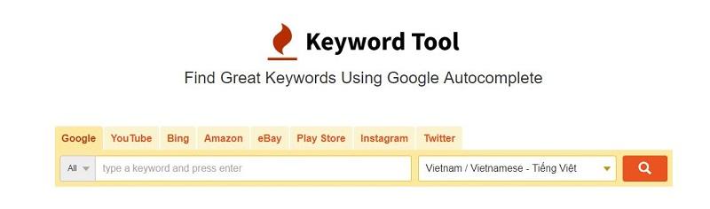 Công cụ tìm kiếm từ khóa