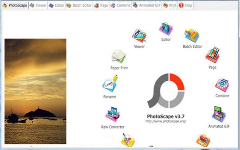 phần mềm chỉnh sửa ảnh photoscape