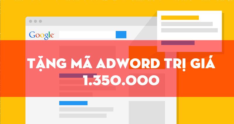 Mã khuyến mãi quảng cáo Google Awords
