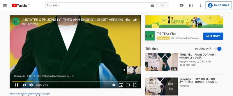 Quảng cáo hiển thị trong video trên YouTube