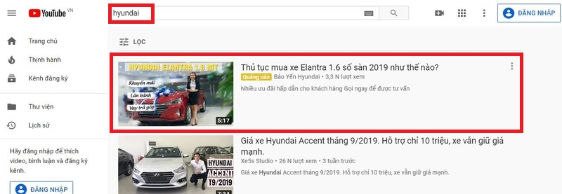 Quảng cáo YouTube Promoted Videos