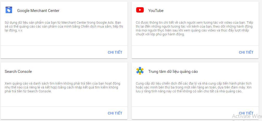 Tạo liên kết tài khoản với kênh Youtube