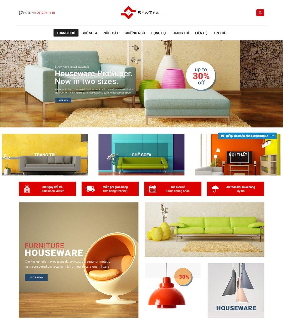 website cho ngành nội thất