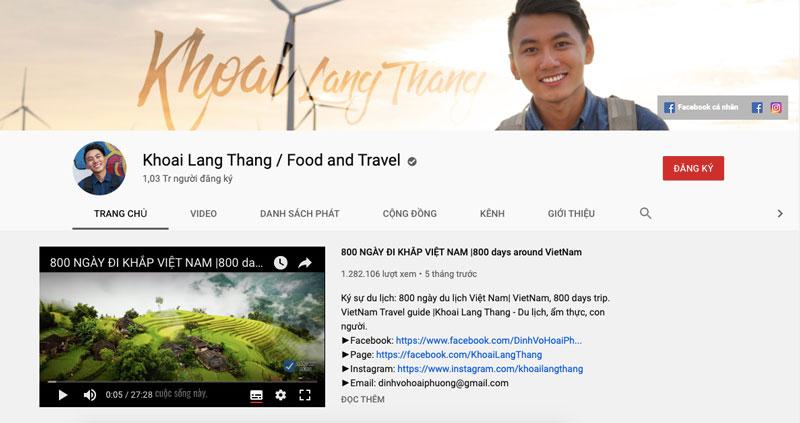 Kênh Youtube Về Đề Tài Du Lịch