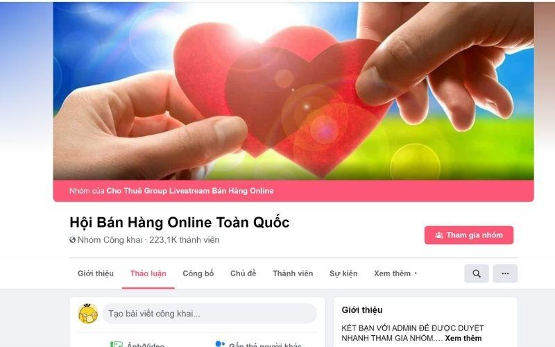 Group bán hàng trên Facebook