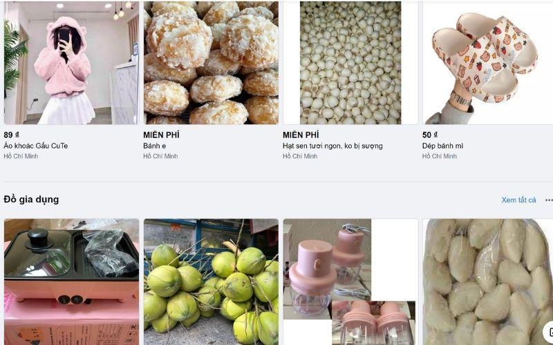 Một số sản phẩm đang được kinh doanh Online trên Facebook